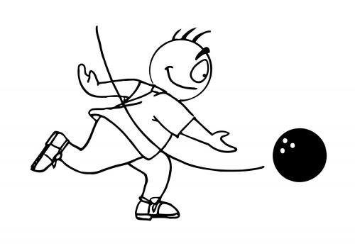 dessin bowling imprimer