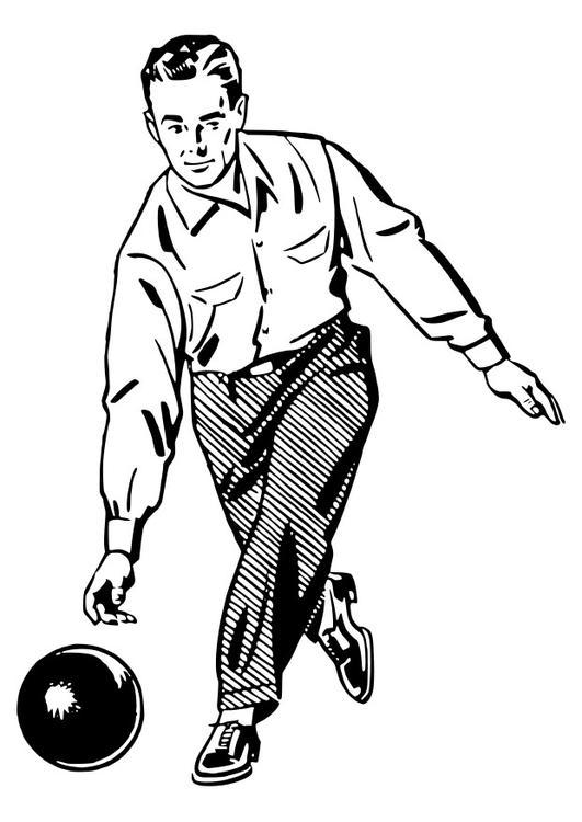 coloriage à dessiner quille de bowling