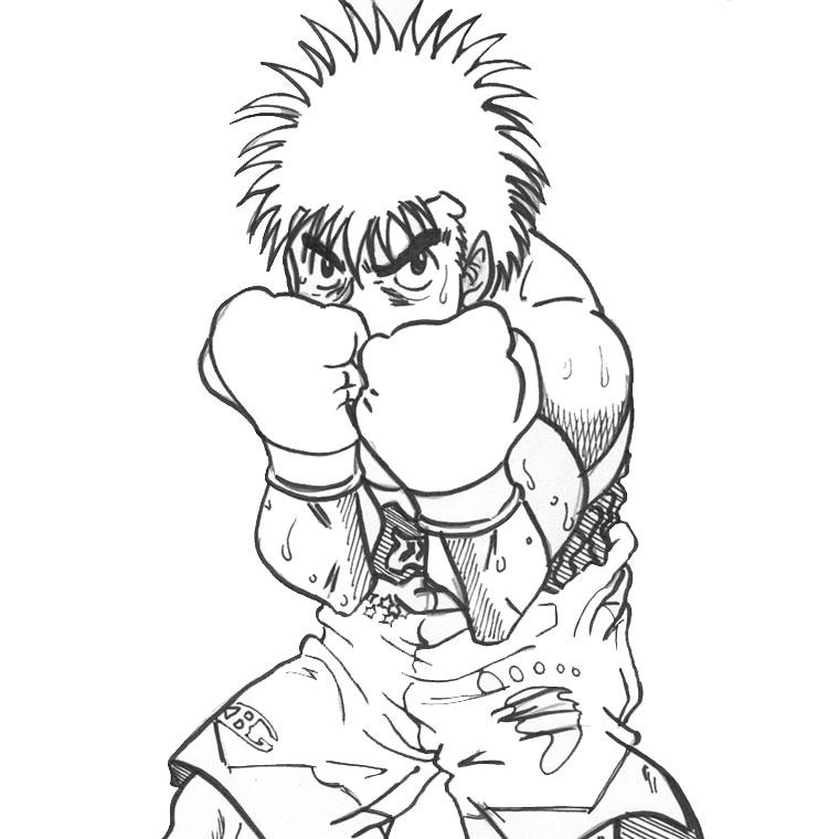 Dessin de boxe - Coloriage boxer ...