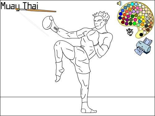 dessin ring de boxe