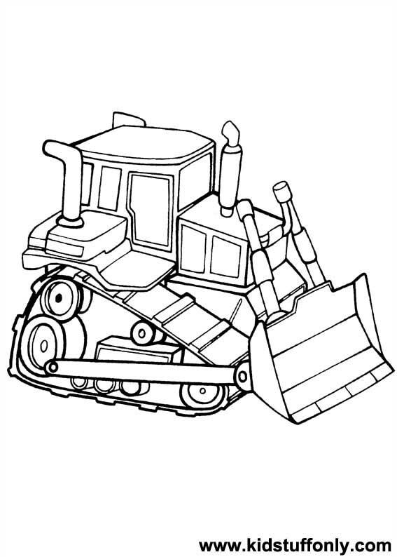 dessin à colorier bulldozer gratuit