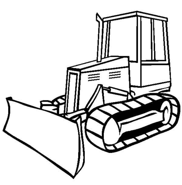 dessin à colorier bulldozer imprimer