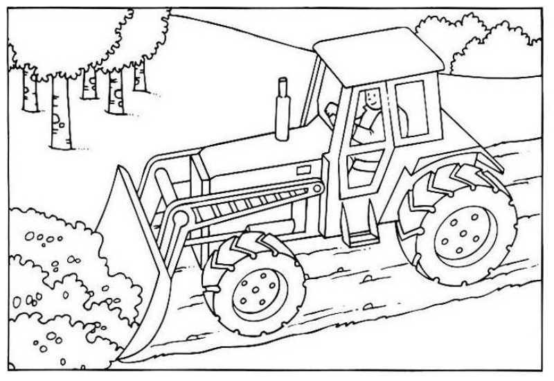coloriage bulldozer a imprimer