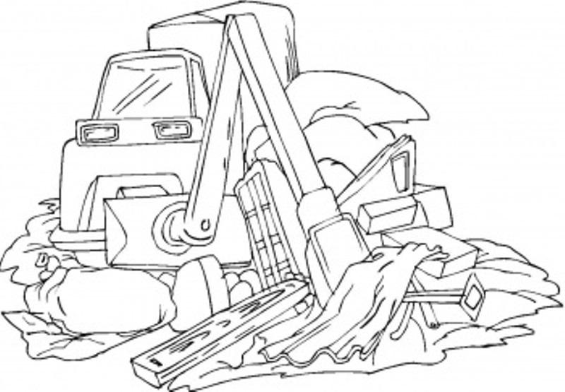 coloriage à dessiner de bulldozer