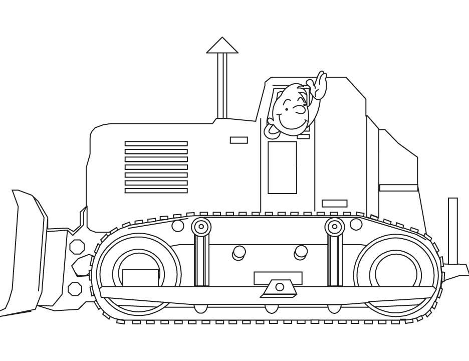 coloriage à dessiner bulldozer imprimer