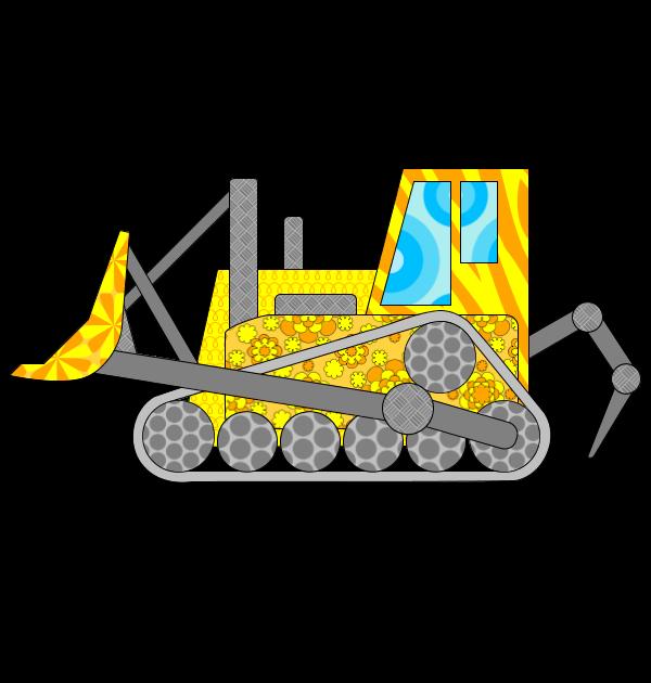 dessin bulldozer imprimer