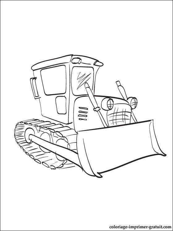 coloriage à dessiner en ligne bulldozer