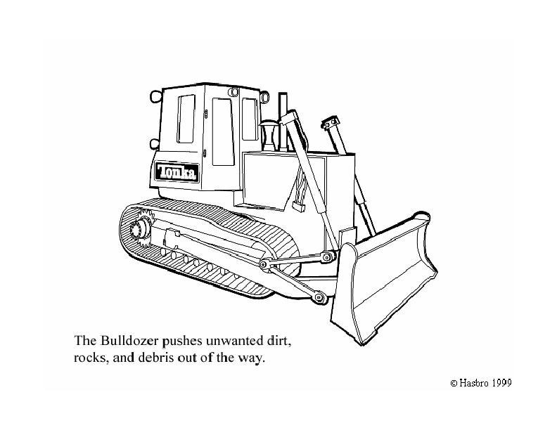 dessin bulldozer gratuit
