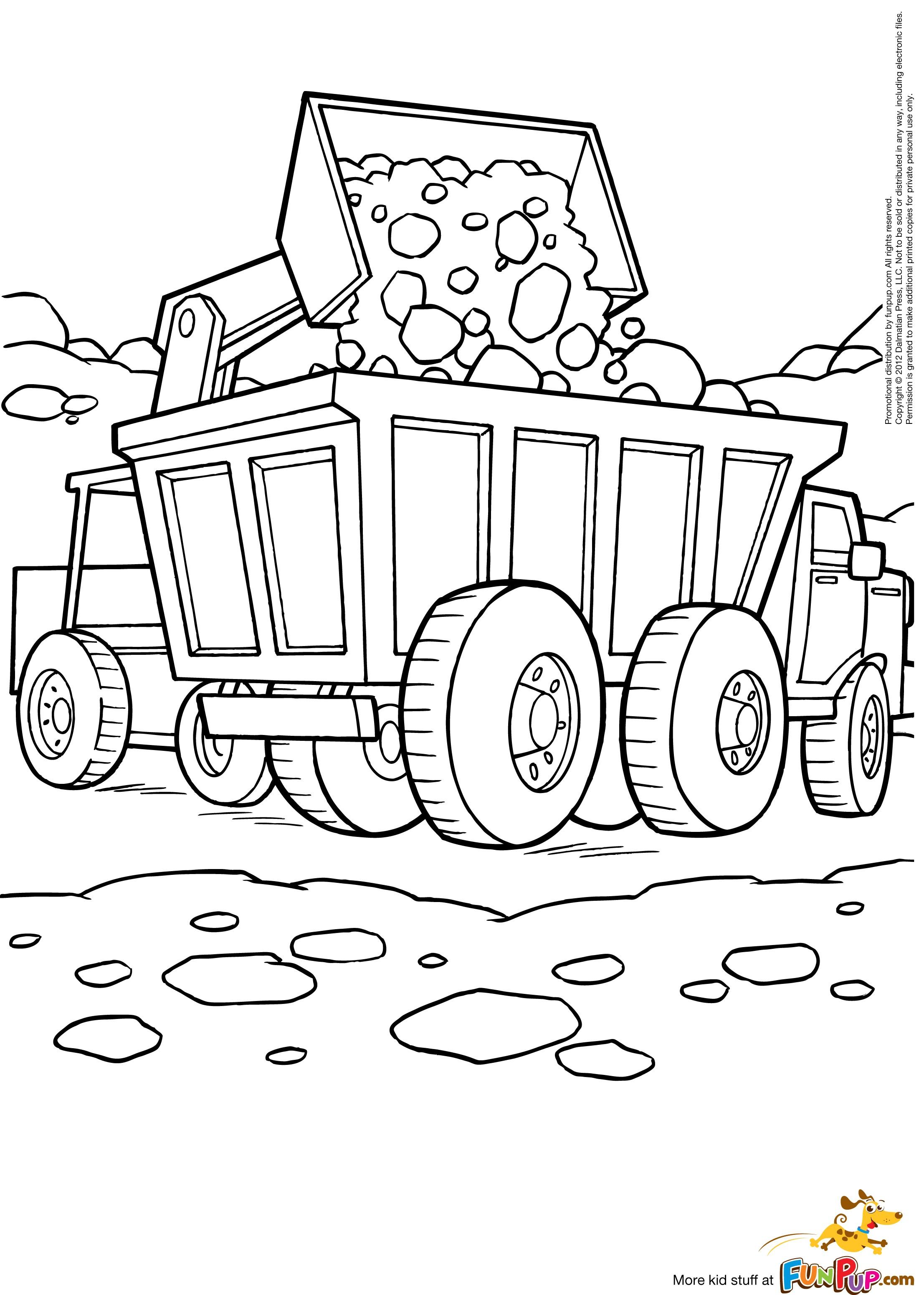 coloriage à dessiner bulldozer gratuit