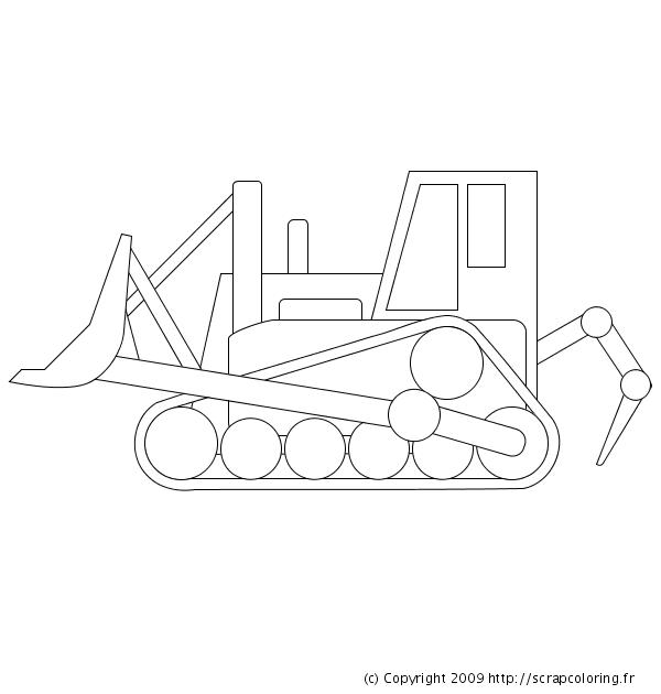 dessin à colorier bulldozer