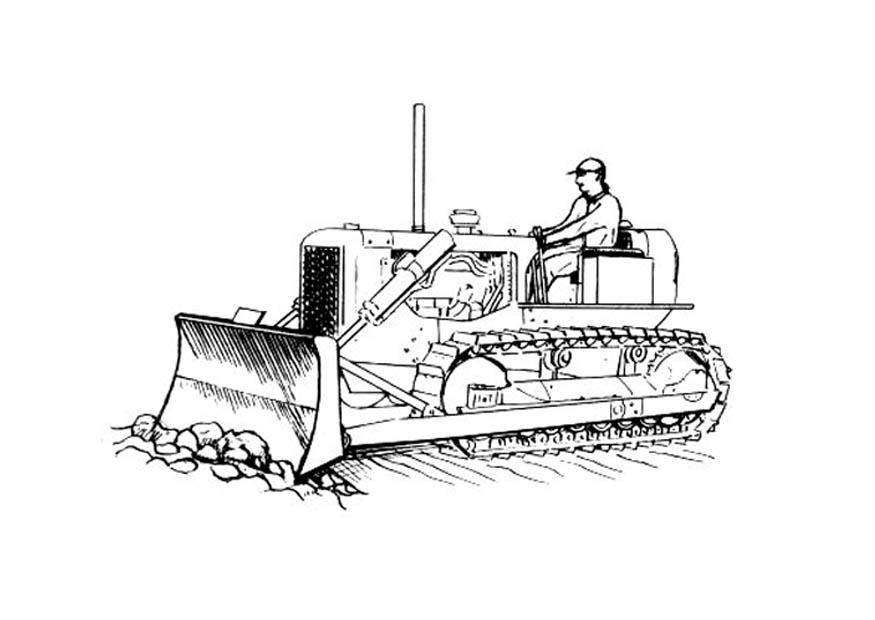 coloriage à dessiner bulldozer