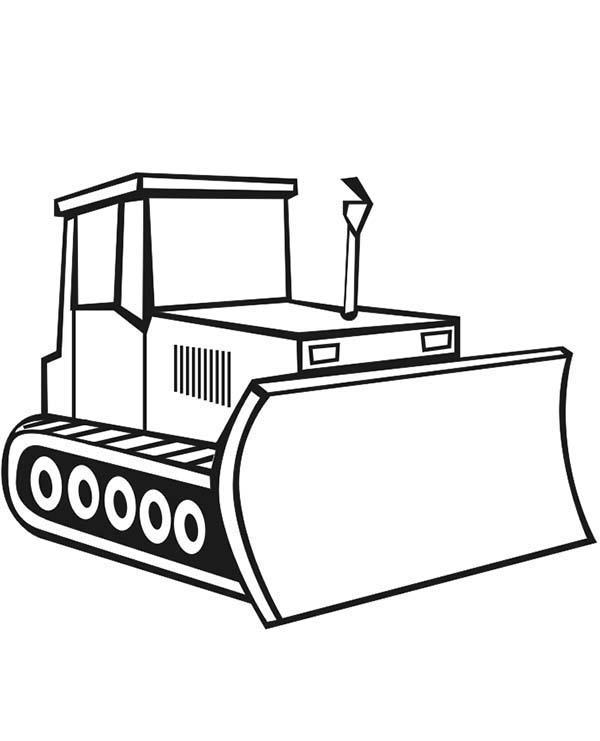 dessin en ligne bulldozer