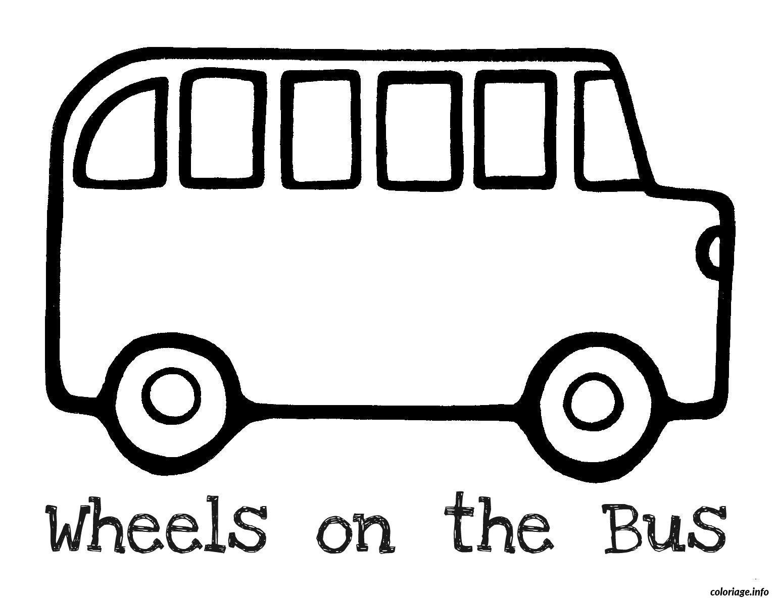 Souvent 30 dessins de coloriage Bus Enfant à imprimer ES25