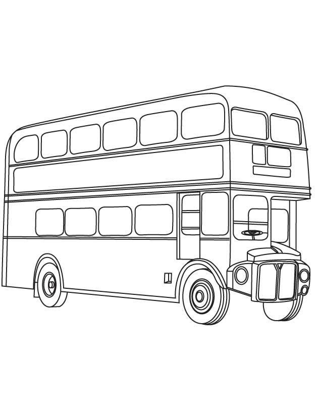 Line Drawing Bus : Dessins de coloriage bus enfant à imprimer