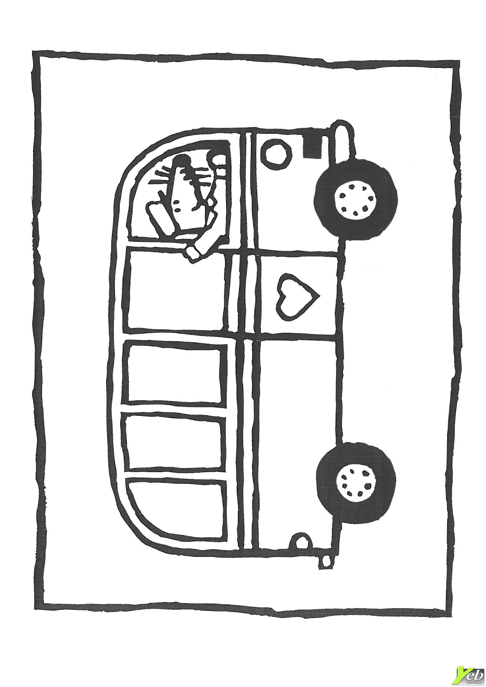 30 dessins de coloriage bus enfant imprimer - Dessin d un bus ...