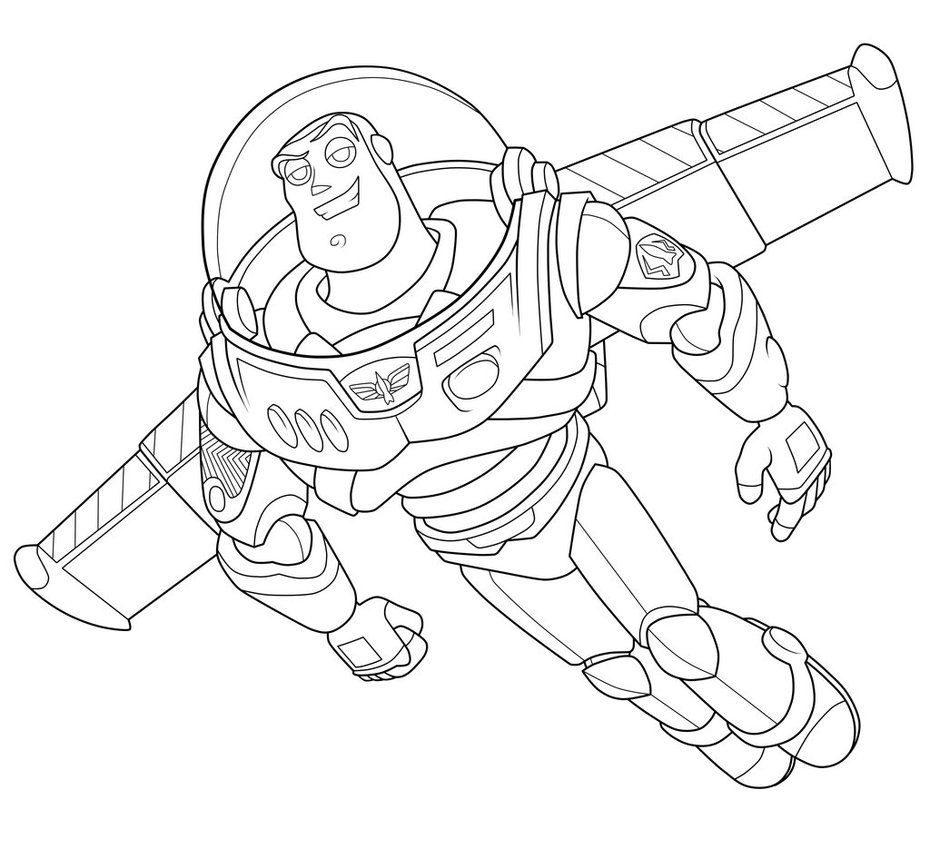 Coloriage dessiner buzz l 39 eclaire a imprimer - Buzz a colorier ...