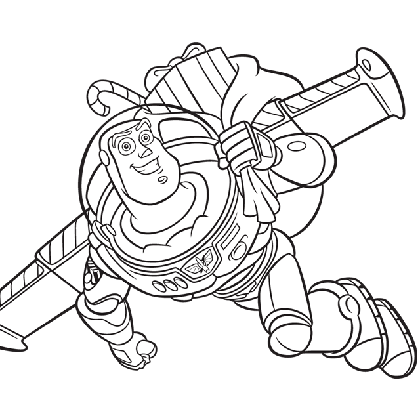 Coloriage dessiner imprimer buzz l 39 eclair - Coloriage buzz ...