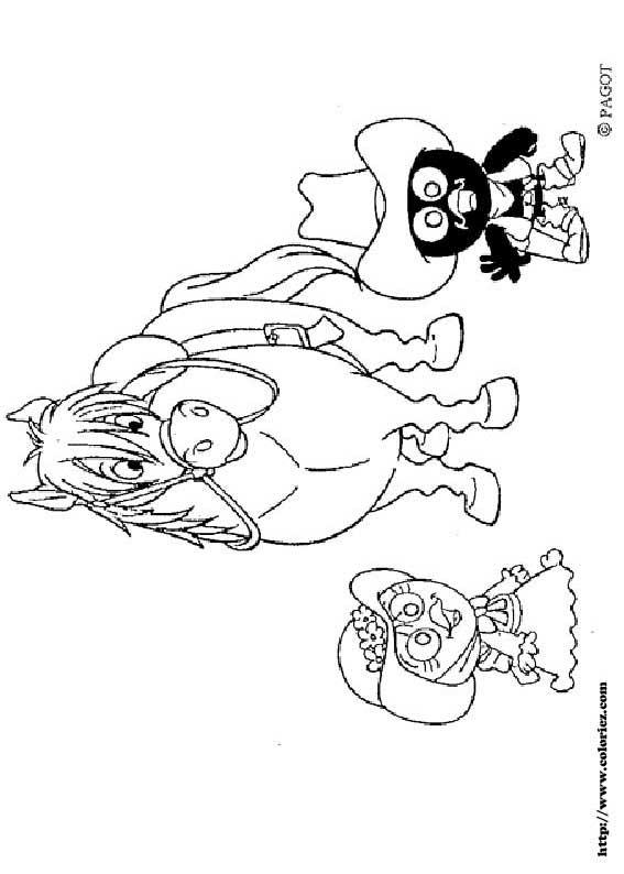 dessin à colorier de calimero a imprimer