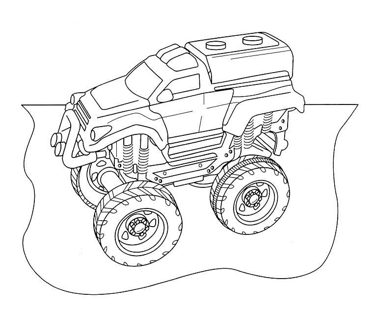 99 dessins de coloriage camion de course imprimer - Coloriage de voiture de rallye ...