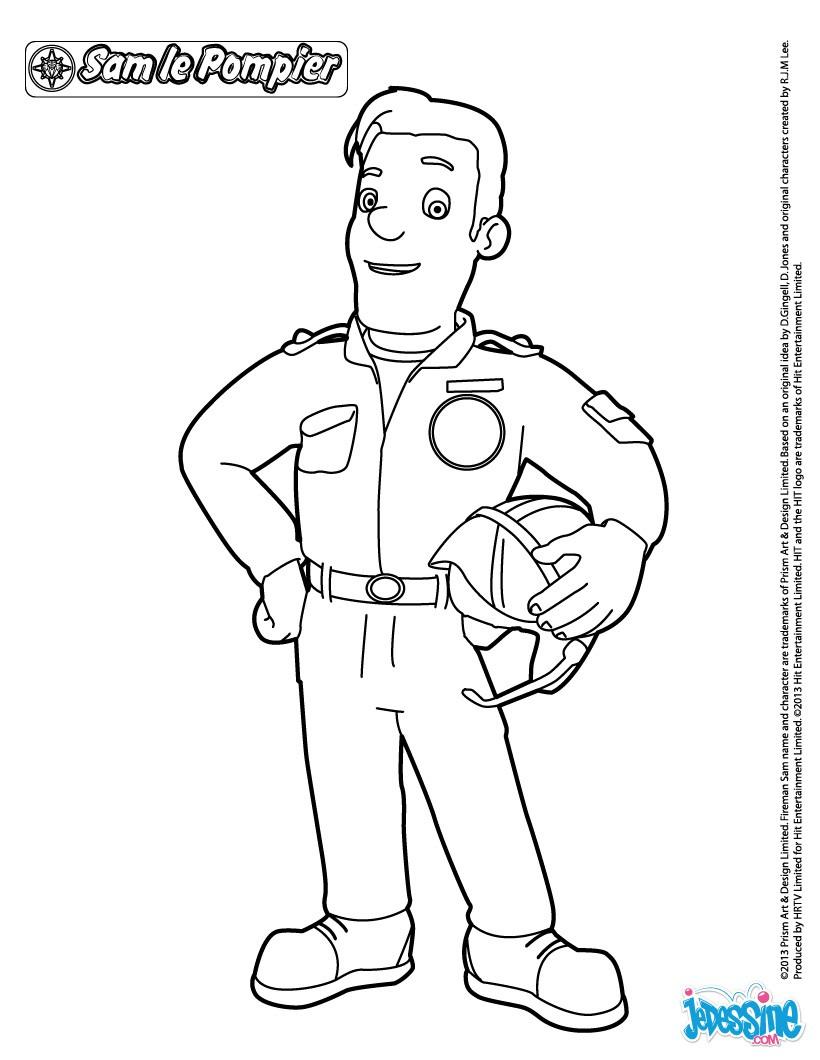 Les coloriages pour colorier de pompier - Pompier dessin ...