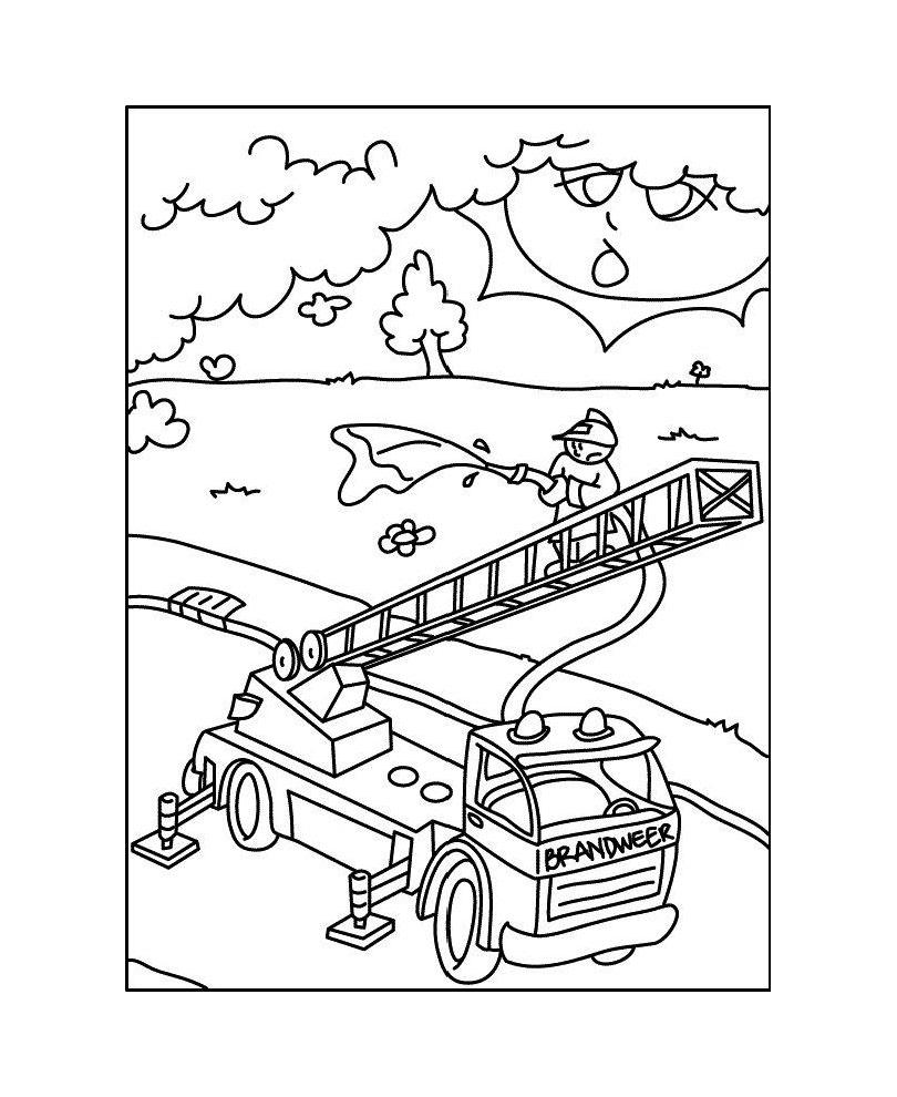 97 dessins de coloriage camion pompier imprimer imprimer - Dessin d un camion de pompier ...