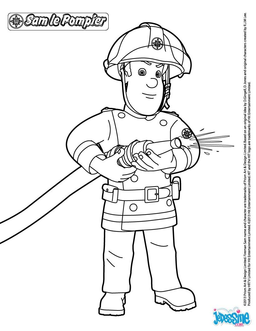 97 dessins de coloriage Camion Pompier à Imprimer à imprimer