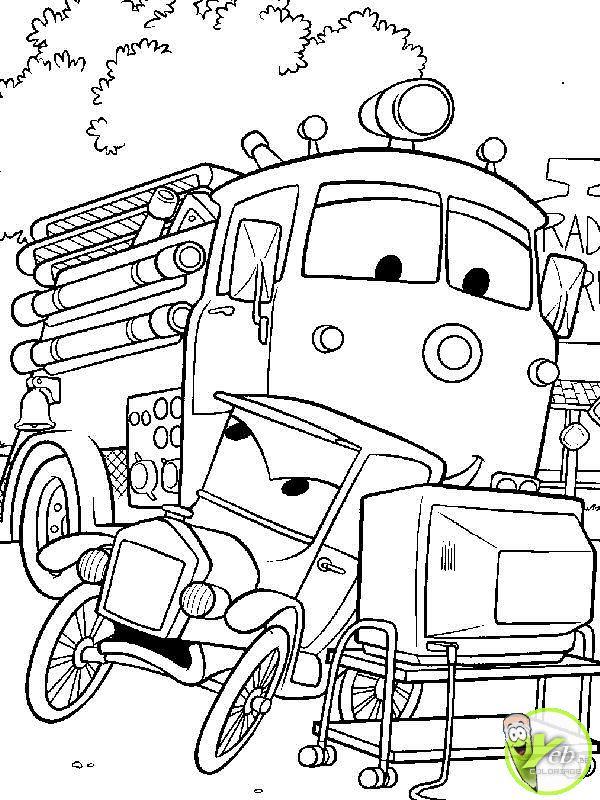 coloriage � dessiner camion de pompier a imprimer gratuit
