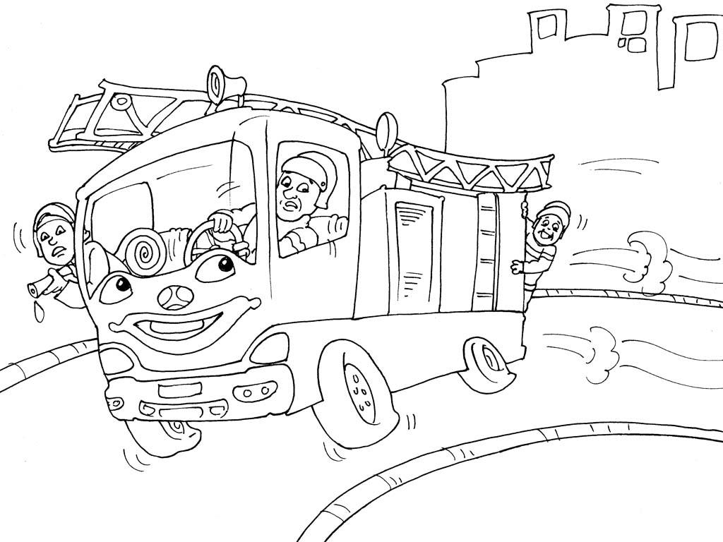 96 dessins de coloriage camion pompier imprimer - Coloriage camion de pompier ...
