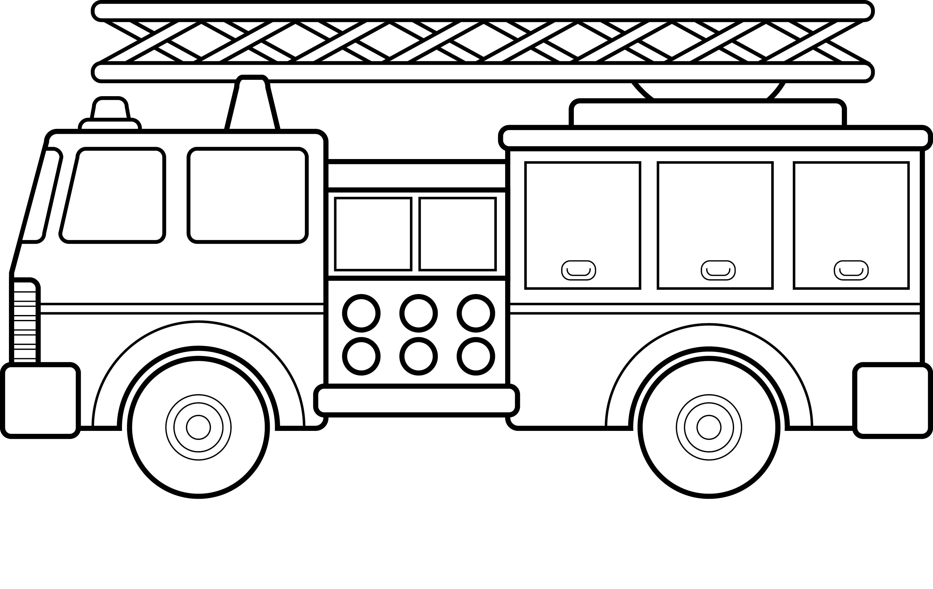 Coloriage Camion Des Pompiers.14 Dessins De Coloriage Camion Pompier A Imprimer