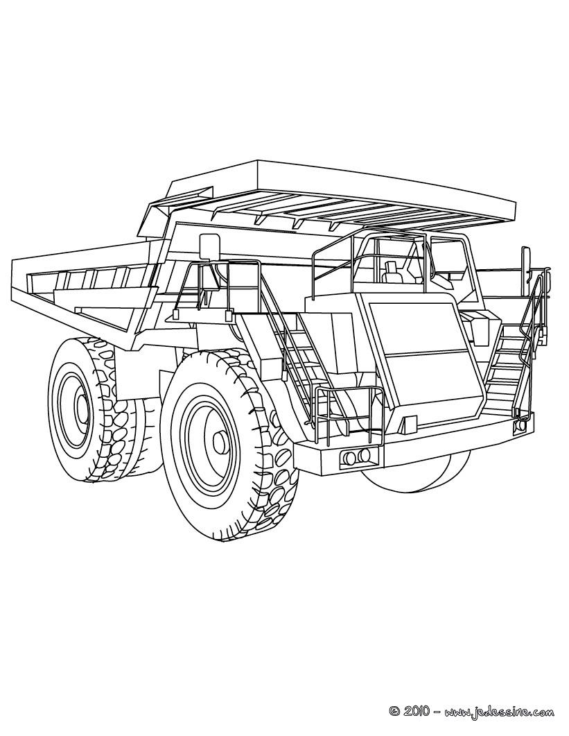 20 dessins de coloriage camion transporteur imprimer - Camion americain dessin ...