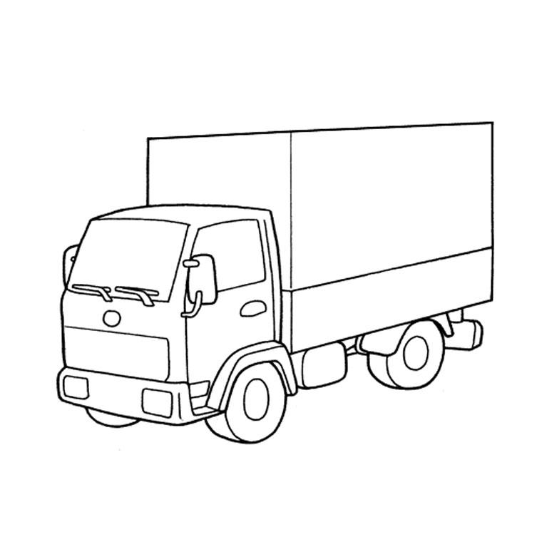coloriage à dessiner camion de sam le pompier