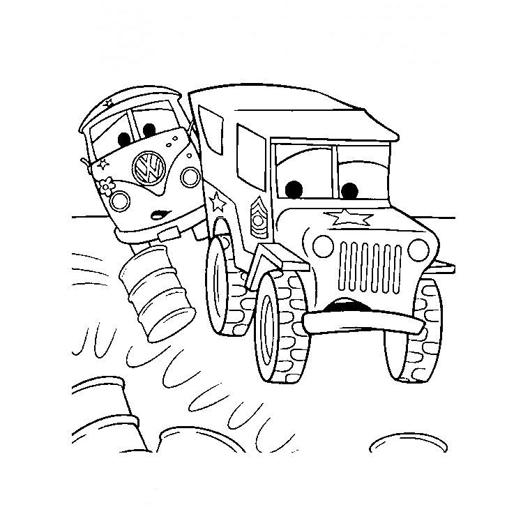 dessin à imprimer camion