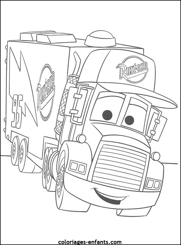 Coloriage camion de poubelle - Coloriage camion de poubelle ...