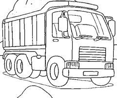 dessin à colorier camion chantier