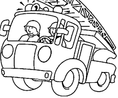 dessin colorier camion vidange