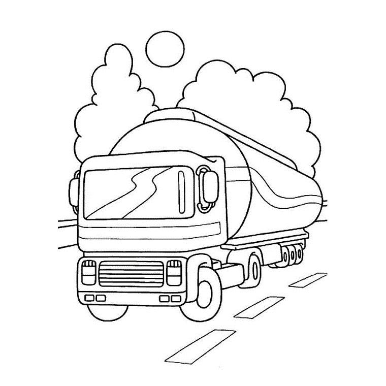 coloriage à dessiner camion moto
