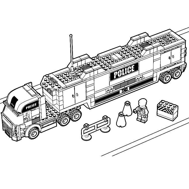 coloriage à dessiner a imprimer camion de travaux