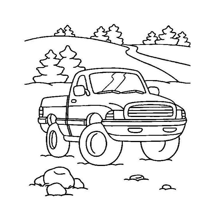 coloriage camion de travaux