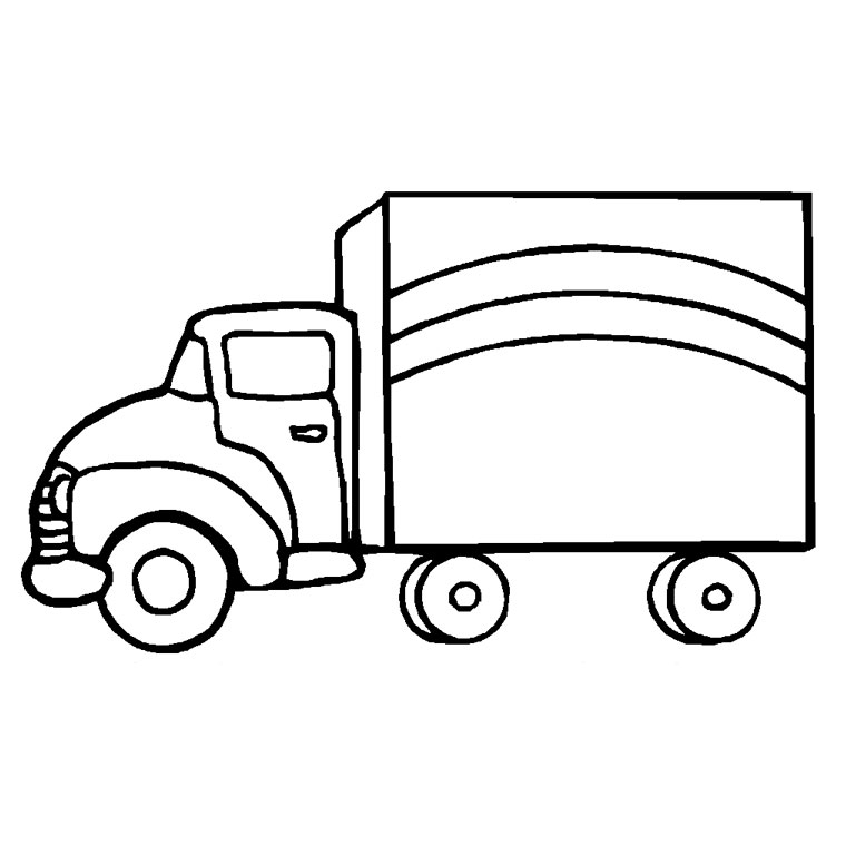 Coloriage Facile Camion.Dessin Simple Camion