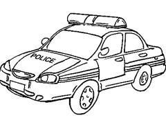 dessin colorier camion de police