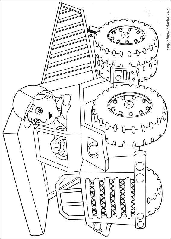 Coloriage Camion Grue