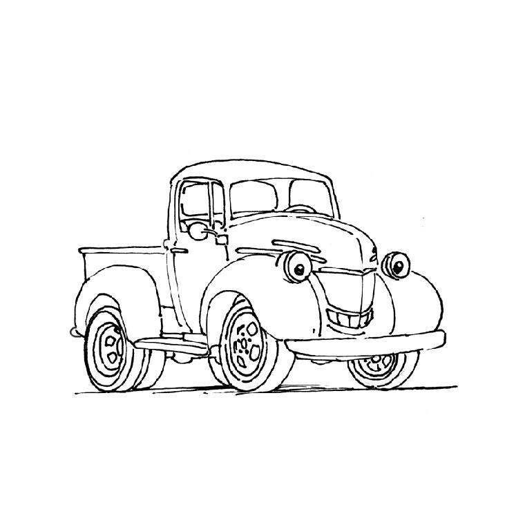 dessin � colorier camion cars imprimer