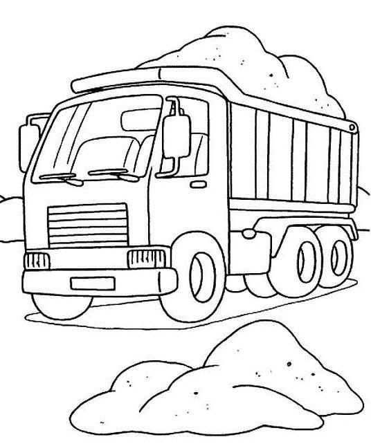 dessin a imprimer camion de travaux