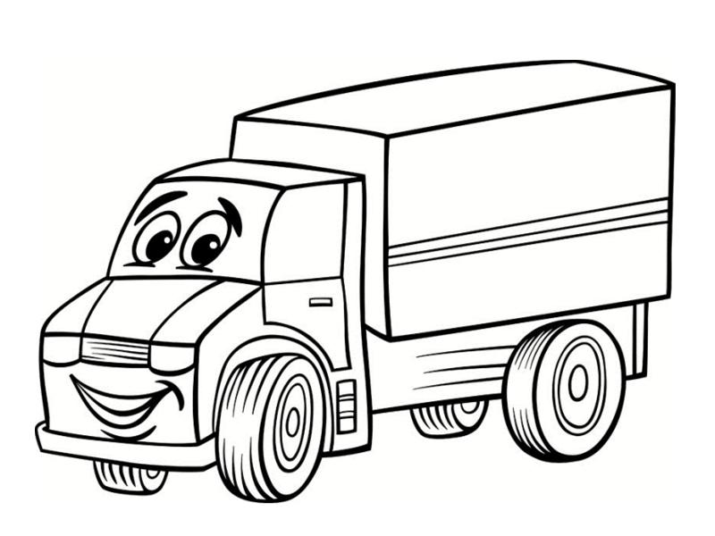 dessin à colorier camion cars