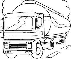 dessin à colorier de camion de chantier a imprimer