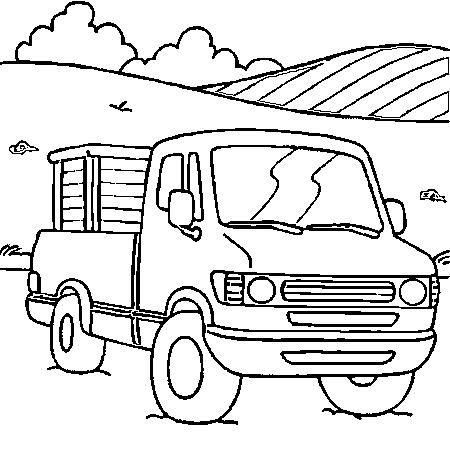 coloriage imprimer camion pompier