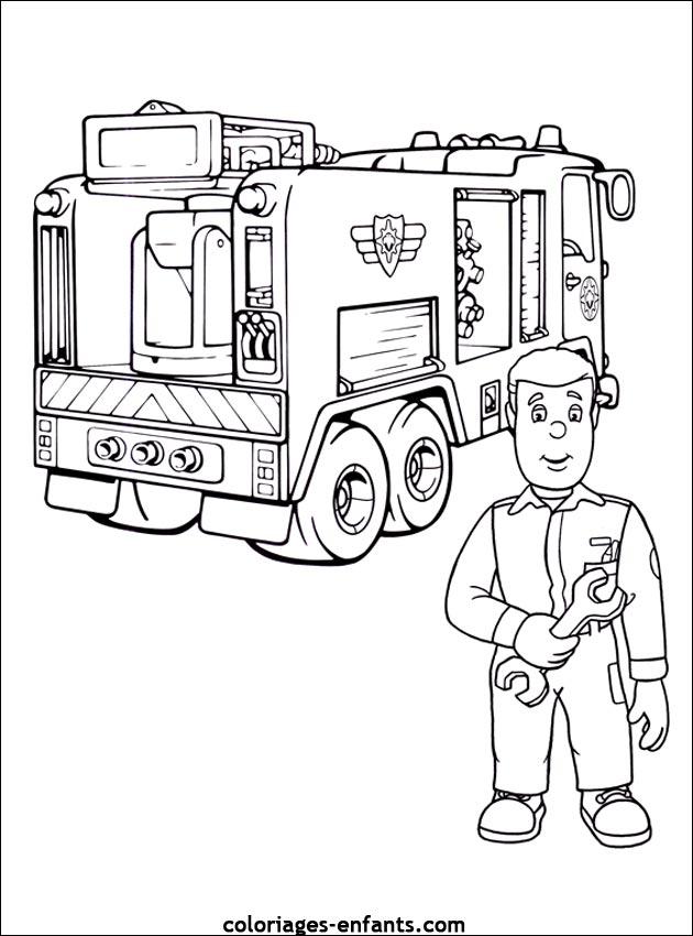 dessin à colorier camion militaire imprimer