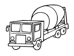 dessin à colorier camion benne imprimer