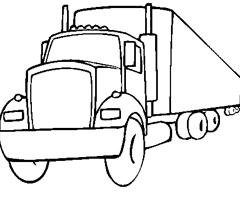 dessin à colorier camion voiture