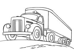 coloriage à dessiner camion pompier a imprimer